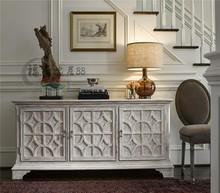 北欧时尚简约实木电视柜美式ha10园做旧ar实木雕花玄关柜子