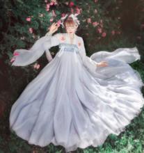 紫沐原ha齐胸襦裙刺za两片式大摆6米日常女正款夏季
