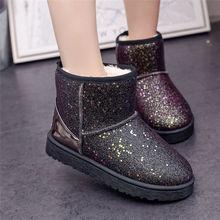 雪地靴hb式学生韩款bn筒靴子女士新式防滑雪地棉鞋保暖雪地鞋