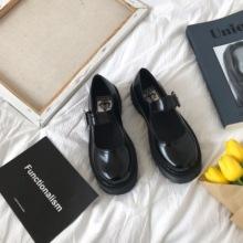 (小)sun家 (小)皮鞋女英伦单鞋2021hc15新式jfk百搭复古玛丽珍鞋
