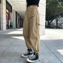FYPhdAN立体剪er九分束脚裤男女嘻哈潮牌宽松工装裤休闲裤