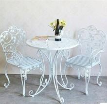 美式欧hd铁艺椅子 er单的户外椅子 阳台沙发椅子 庭院休闲椅