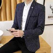 男装外hd夹克男春秋jm款潮流修身休闲(小)西装男薄式青年单西服