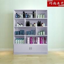 货柜货hd展示架美容rm品柜超市理发店(小)便利店置物收纳架