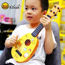 (小)黄鸭he克里里初学th仿真(小)吉他玩具可弹奏乐器1-8岁男女孩