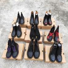 全新Dhe. 马丁靴un60经典式黑色厚底  工装鞋 男女靴