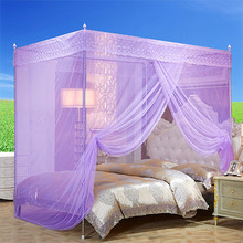 蚊帐单he门1.5米lkm床落地支架加厚不锈钢加密双的家用1.2床单的