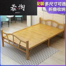 .简易he叠1.5mia漆省空间可拆装对折硬板床双的床成年的