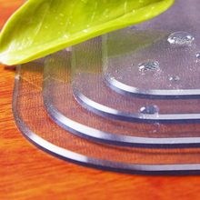 pvche玻璃磨砂透ai垫桌布防水防油防烫免洗塑料水晶板餐桌垫