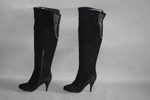 全皮高hf女靴简约磨dw侧拉链靴子里外真皮时尚长靴1790802
