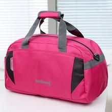 新式大hf量短途男士pd手提旅行包女旅行袋行李袋旅游包健身包