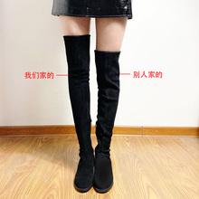 长靴女hf膝2020pd新式长筒靴5050瘦腿高筒靴平底加绒网红靴子