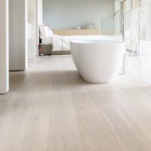 悦林阁三层实木hf合地板家用pd白橡木15/4mm木蜡油锁扣地暖