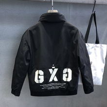 运动机hf潮牌工装羽fg短式帅气百搭潮流冬季外套男士加厚夹克