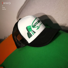 棒球帽hh天后网透气gk女通用日系(小)众货车潮的白色板帽