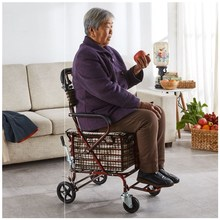 老的助hh车手推可坐hd手推车代步可坐舒适老年的手推车折叠车