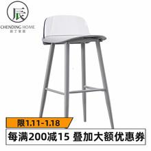 铁艺吧椅透明靠hi高脚凳现代ek料吧椅个性网红吧凳北欧
