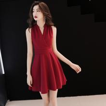 短式女hi时可穿夏季vi婚(小)个子宴会(小)晚礼服连衣裙