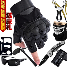 战术半hi手套男士夏vi格斗拳击户外骑行机车摩托运动健身手套