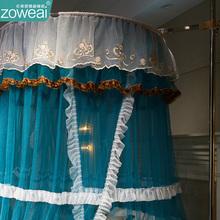 宫廷落hi蚊帐导轨道vim床家用1.5公主风吊顶1.2米床幔伸缩免安装