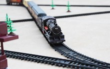 【超长hi.4米轨道vi动仿真(小)火车套装】托马斯(小)火车玩具和谐