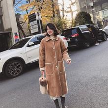 202hi年冬季新式ed水貂绒毛呢外套女装赫本(小)个子流行呢子大衣