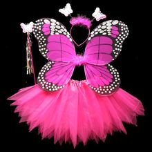 圣诞节六一宝宝表演服舞蹈服道hi11无金粉to天使翅膀四件套