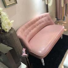 懒的沙hi圆桌客厅皮th咖啡厅(小)户型可移动单的单的沙发皮质