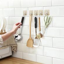 挂钩强hi粘胶贴墙壁me重吸盘厨房挂勾无痕粘贴门后免打孔粘钩