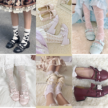 【甜涩hj角】(小)心心fcolita可爱圆头鞋爱心低跟日系少女(小)皮鞋