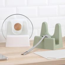 纳川创意厨房hj品塑料锅盖fc砧板置物架收纳架子菜板架锅盖座