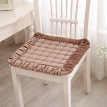 冬季毛hj座椅垫凳子fc垫餐椅垫椅子办公室学生椅垫