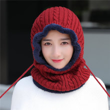 户外防hj冬帽保暖套fc士骑车防风帽冬季包头帽护脖颈连体帽子