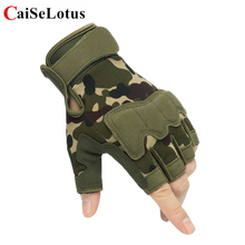 战术半hj手套男女式hj特种兵短指户外运动摩托车骑行健身手套