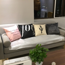 样板房hk计几何黑白sb枕孕妇靠腰靠枕套简约现代北欧客厅靠垫