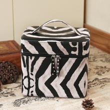 化妆包hm容量便携简rp手提化妆箱双层洗漱品袋化妆品收纳盒女