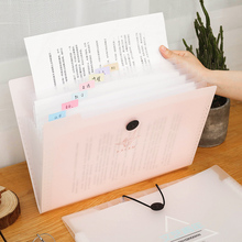 a4文hn夹多层学生yf插页可爱韩国试卷整理神器学生高中书夹子分类试卷夹卷子孕检
