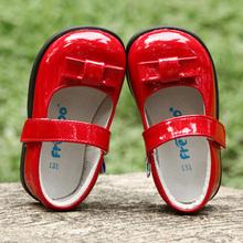 芙瑞可hn秋季女童皮yf6岁宝宝单鞋红色蝴蝶结公主鞋宝宝表演鞋