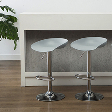 现代简hn家用创意个qm北欧塑料高脚凳酒吧椅手机店凳子