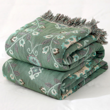 莎舍纯hn纱布毛巾被wn毯夏季薄式被子单的毯子夏天午睡空调毯