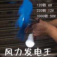 (小)型微型风力发电 户外6V12Vhn134V5qd电机 手摇发电应急电源
