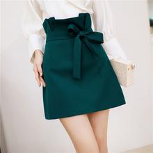韩衣女hn 高腰半身fs2020新式裙子花苞休闲港味短裙