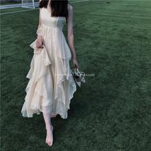 【Swhnetheaqs爱丽丝梦游仙境 大裙摆超重工大摆吊带连衣裙长裙