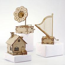 木制手hn八音盒ditq拼装迷你木质复古手工女生生日礼物