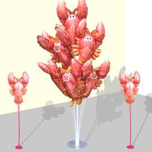 (小)龙虾hn球主题立柱js置开业广告啤酒节餐厅饭店烧烤装饰用品