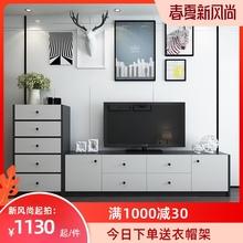 现代简hn客厅五斗柜ze奢电视机柜大容量储物收纳柜