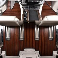 适用汉ho达木地板实ch09-18年新老式专用木质汽车全包围柚木
