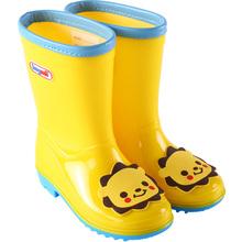 hughoii男童女ei水鞋轻便防滑时尚卡通幼儿园(小)孩雨靴