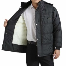 中老年棉衣ho爷爷冬装外ei的棉袄老的羽绒服男装加厚爸爸棉服