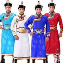 新式蒙ho服装男士蒙es式蒙族传统日常生活少数民族舞蹈演出服